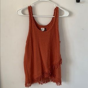 Anthropologie crochet tank, size S